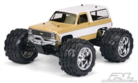 $6 OFF Proline 1980 Chevy Blazer Clear Body for T/E/2.5-MAXX, REVO 2.5, Savage and 1:10 Crawler  # 3244-00