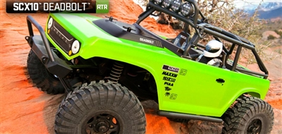 "Combo Deal:  Axial Racing SCX10â""¢ Deadboltâ""¢ 1/10th Scale Electric 4WD - RTR AX90044 (Free LED light kit LK-0001WT and free Proline Scale Accessory- Assortment 1 #6040-00)"