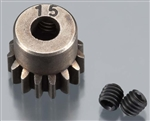 Axial Pinion Gear 32P 15T - Steel (5mm Motor Shaft - Yeti) AX30841