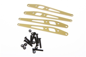 Axial Racing Yeti Lower Link Plate Set (Aluminum) (4pcs) AX31245 Adds durability and stiffness to your stock links.