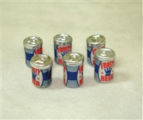 Miniatures Scale Six Metal Beer or Soda Cans AZ-FA40019