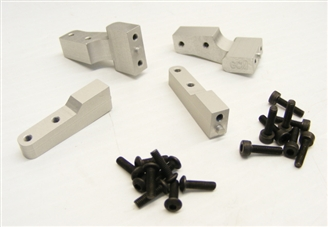 TCS Crawlers Exclusive!!!  GCM Aluminum Savage Flux Battery Box Mounts (for one battery box) comes in black #GR0001 **