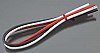 "Tekin 12awg Silicon Power Wire 3pcs 12"" Red/Black/White Part # TT3011"