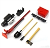 Yeah Racing 1/10 RC Rock Crawler Accessory Tool Set Axes Digging Shovel Gas Can (Oil Tank) High Jack Winch Pry Bar # YA-0356RD