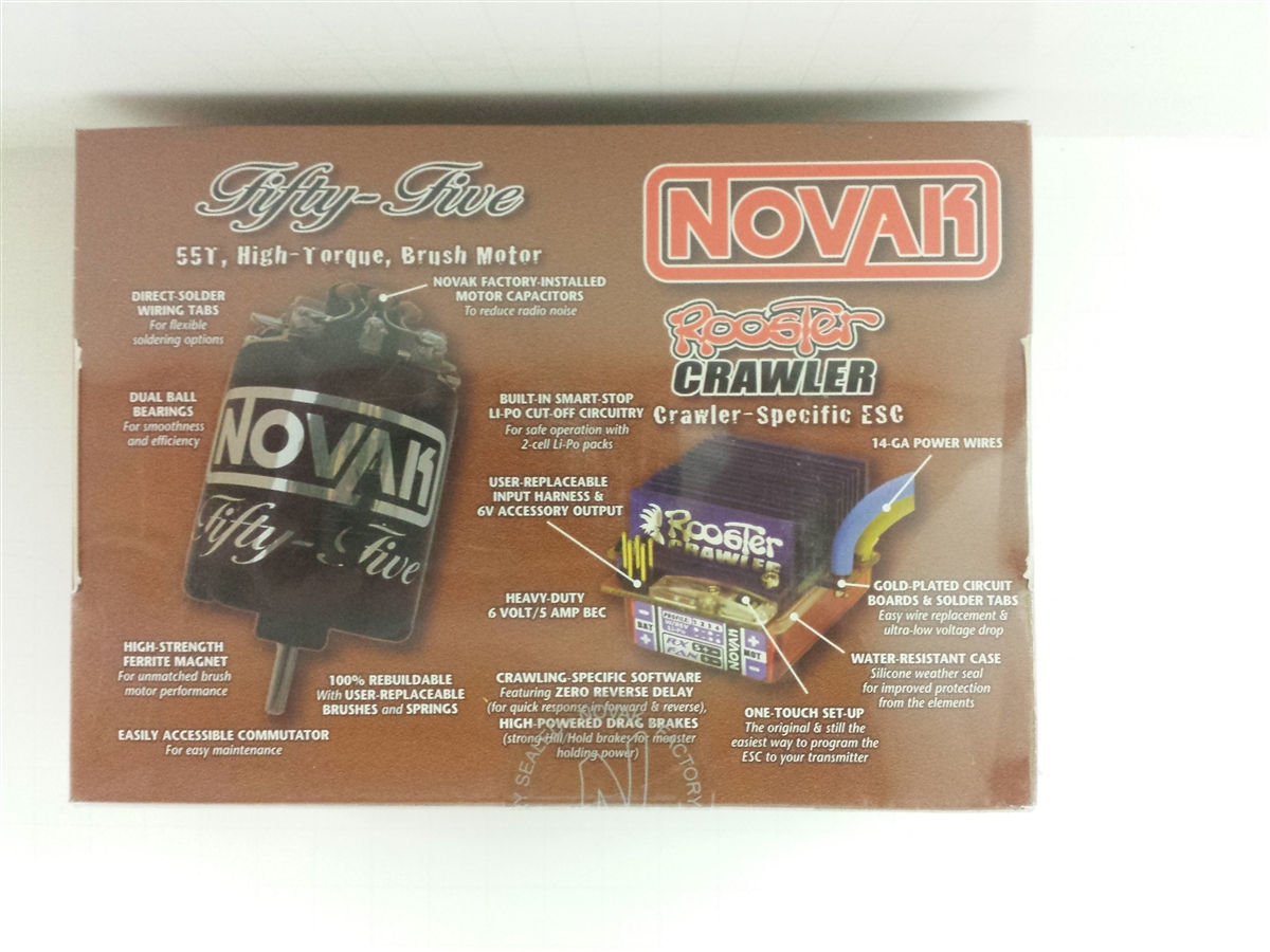 Disabled - Clearance! Last One! NOVAK Rooster Crawler ESC/45T Motor Combo  1843 **