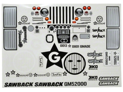 Gmade SAWBACK DECAL SHEET - GMA49004