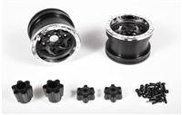 "Axial Racing 2.2 Walker Evans Wheels - IFDâ""¢ Wheels - Chrome/Black(2pcs) AX31037"