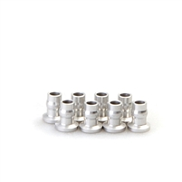 Gmade ALUMINUM SHOCK END BALL 7X8.5MM SILVER (8) - GMA0020042