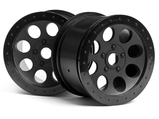 $4 OFF HPI Mag-8 Wheel Black (83x56mm/2pcs) #3186  **