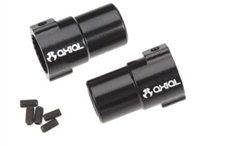 Clearance $5 Off!!!  Axial XR10 Aluminum Straight Axle Adapters (Black) (2pcs) # AX30763  **