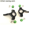 Hot Racing Aluminum SCX10 Steering Knuckles (black) SCP2101