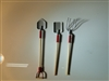 $2 OFF Miniatures Three Piece Wood & Metal Garden Tool Set (Shovels, Pitchfork) AZ-MA1034