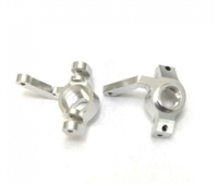 $12 OFF STRC CNC Machined Alum. Front Steering Knuckles for Yeti, EXO buggy STA31110S Silver