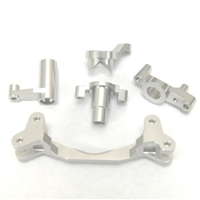 STRC Yeti CNC Machined Aluminum Steering Bellcrank set (5 pcs) STA31122S - Silver