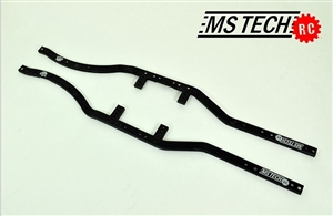 disabled  MS Tech SCX10 Chassis Frame Rails with upper link relocation points (Comes in Black or Clear Anodized) SCX10FRV2