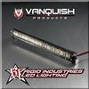 Vanquish Rigid Industries 5 inch LED Light Bar in Black or Silver VPS06753 VPS06754
