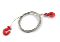 Yeah Racing 1/10 RC Rock Crawler Accessories Steel Wire Rope With Hook #YA-0373