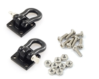 Yeah Racing 1/10 RC Rock Crawler Accessories Heavy Duty Shackle w/ Mounting Bracket Fit 3Racing CR01-27 Winch Black #YA-0378
