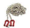 Yeah Racing 1/10 RC Rock Crawler Accessory 96cm Long Chain with Buckle Red #YA-0385