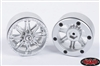 RC4WD Raceline Octane 2.2 Beadlock Wheels (Sliver, Set of 4) Z-W0188
